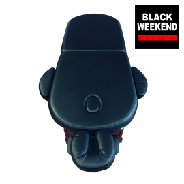 Spapro Therapy Lux Oval 2 fekete masszazsagy nyitokep black weekend